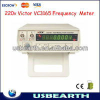 220v Victor VC3165 High Definition Multifunction Cymometer Radio Frequency Meter Counter 0.01Hz~2.4GHz