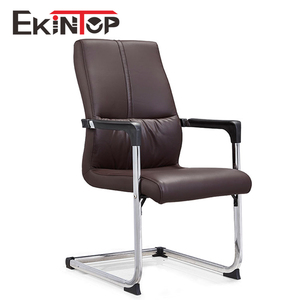 Comfort european arm ergo cantilever black leather meeting conference office chair
