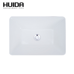 HUIDA New style no hole rectangular bathroom sanitary washbasin countertop sinks with good quality PIUMA
