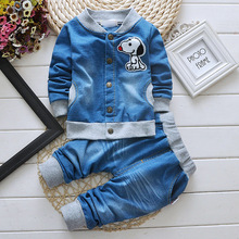 New Arrival 2016 Spring Newborn Suits Baby Girls Boys Brand Suits Fashion Sports Kids Denim jacket
