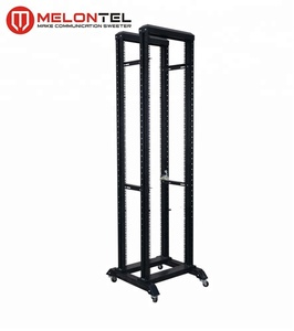 MT-6032 High Quality 21U-42U 19 Inch 2 Column Open Rack Black/Grey Open Network Cabinet