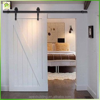 Top Hanging Single Solid Core Design Sliding Door Interior Wood Door