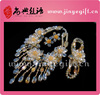 2014 Latest Jewelry Handcrafted Crystal Flower Full Set Jewellery