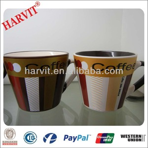 Cheap Price Ceramic Coffe Cup Mugs With Metallic Finish Decoration Wholesale