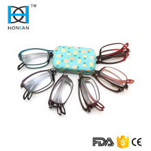 Folding wholesale design optics reading glasses with case