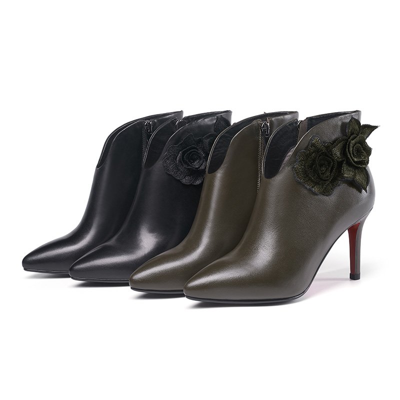 women brazilian for shoes G329 bulk genuine short women booty leather shoes wholesale qFEaEXw