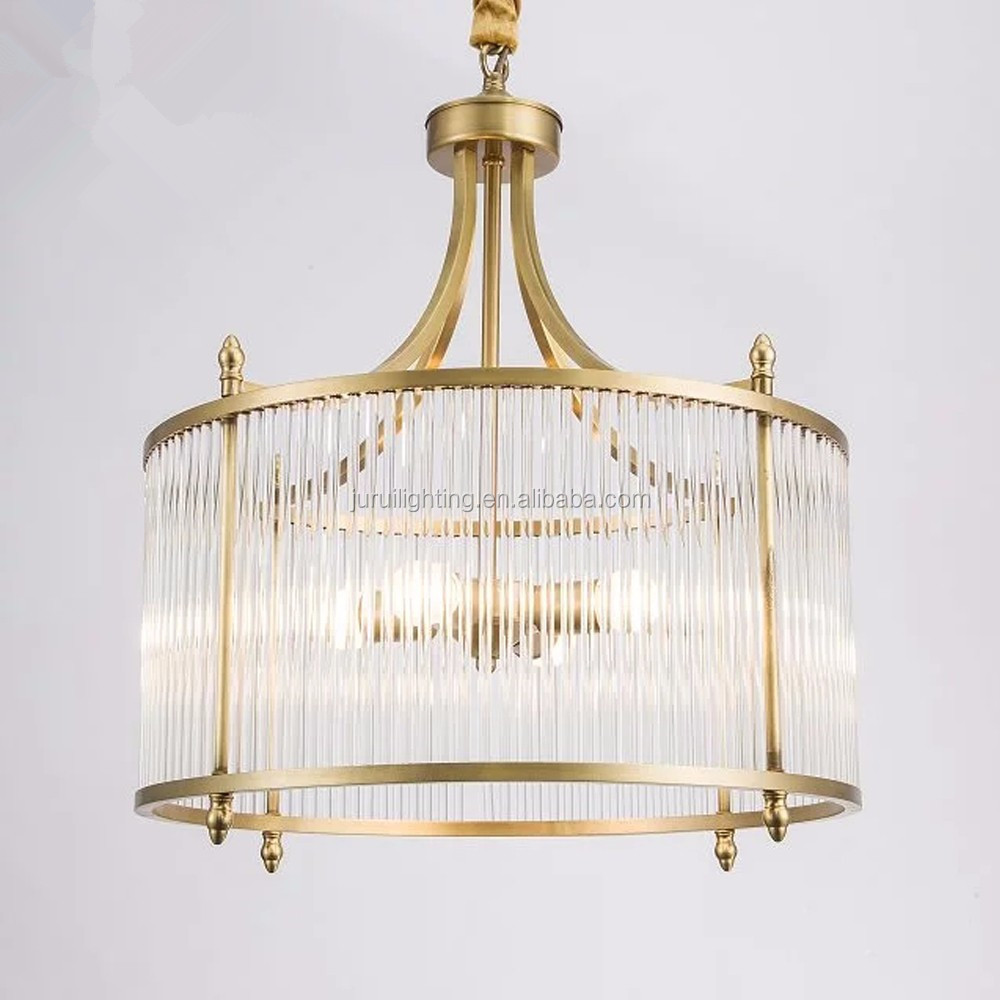 Fashion modern gold plated round iron chandelier crystals glass rods fashion modern gold plated round iron chandelier crystals glass rods pendant light for dinning room aloadofball