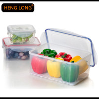 PP wholesale household 3 pcs plastic collapsible airtight waterproof food storage container with lids