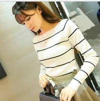 Top selling products long sleeve stripe elegant blouse wholesale young female clothes women apparel