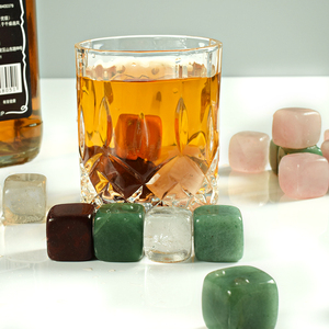 Wholesale natural gemstone whiskey stone bar accessories vodka