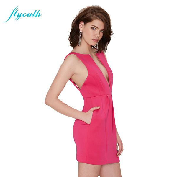 Super Simple Dress With A Deep V Neck Laced Over A: Flyouth Sexy Dresses New Fashion Super Deep V Neck