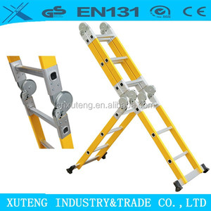 2.5m/3.6m/4.7m FRP Insulation multipurpose Ladders Feature telescopic ladder,aluminium agility speed step fiberglass ladder