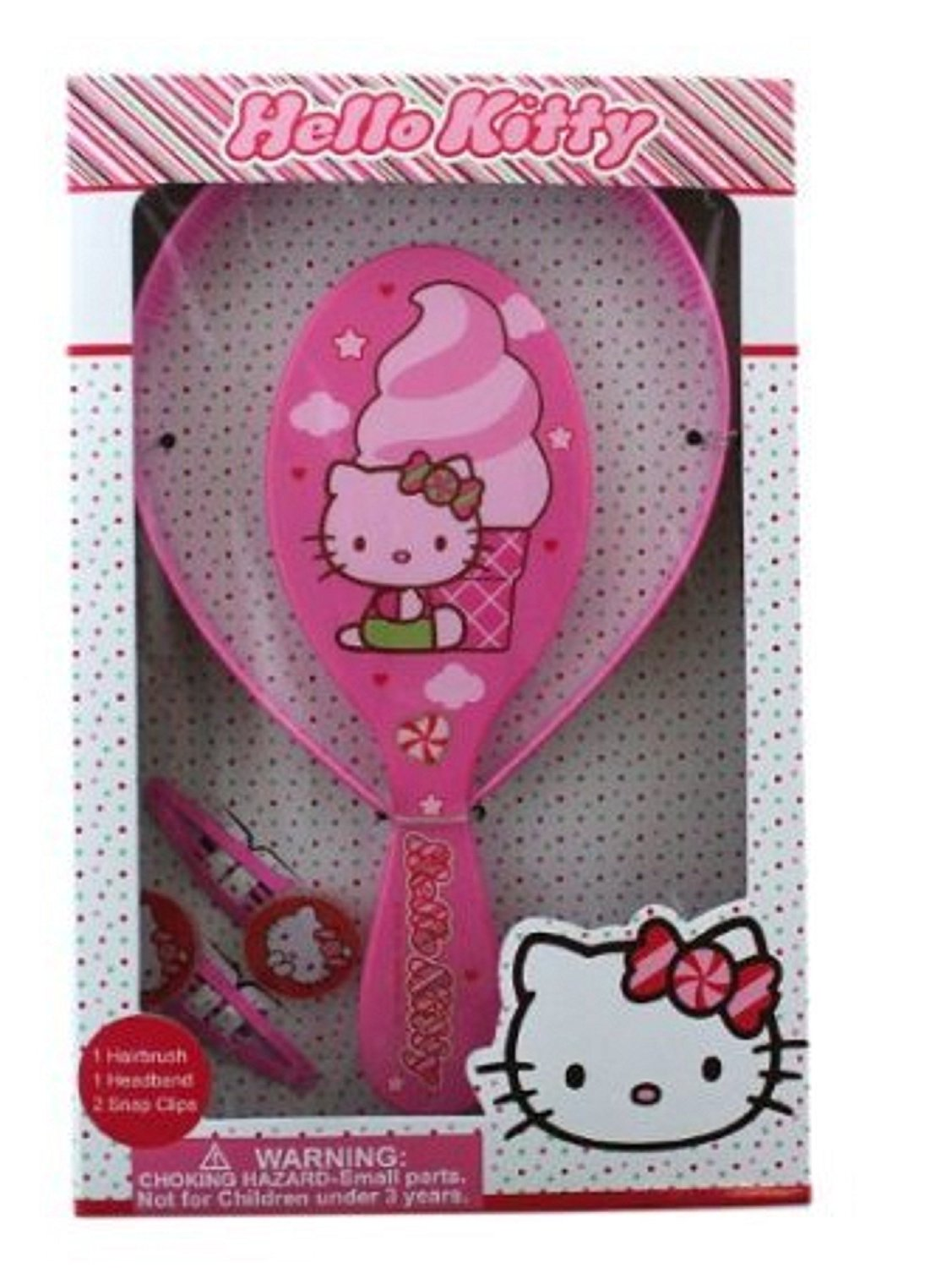 7a0a3516a Get Quotations · Granny's (c) Hello Kitty Pretend Play Hair Brush,Headband,and  two snap