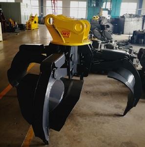 Hydraulic Orange Peel Grapple 360 degree Rotation CE/ISO Excavator  attachments