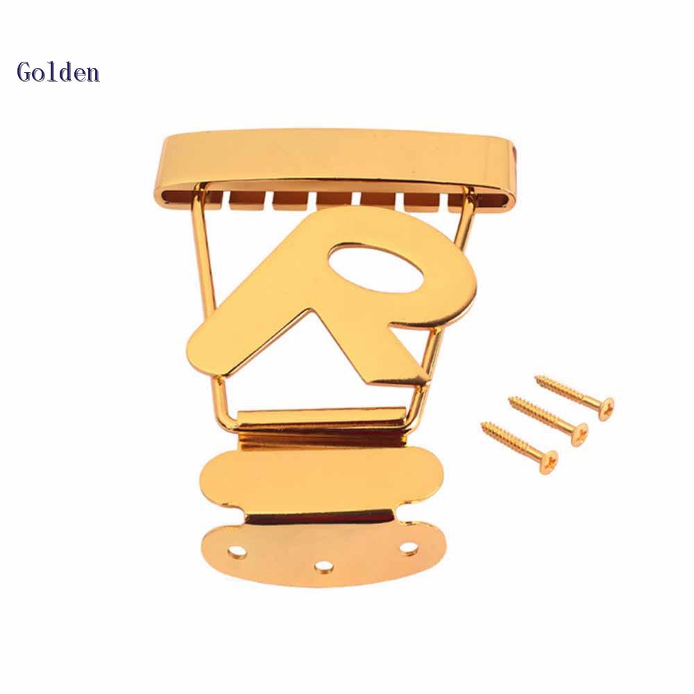 Gold Tremolo Tailpiece Brücke Trapez mit Schrauben für 6 Saiten Archtop