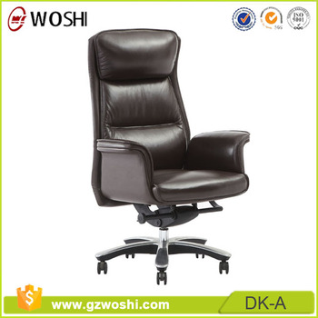 Filled With Sponge Office Chairs Executive Top Grain Leather Office Chair