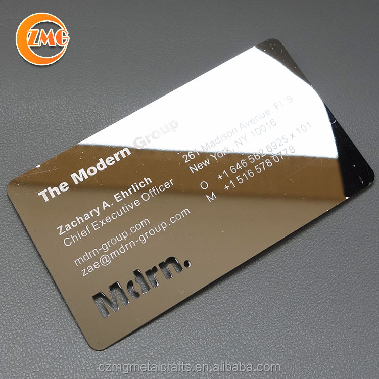 OEM Custom Design Logo Engraved Metal Card, Personalized Business Card Metal