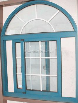 Aluminum Sliding Windows With Top Half Circle Window