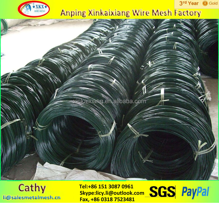 pvc coated steel plastic iron wire with good price