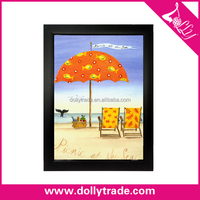 Hand Painted Beach Unbrella Modern Abstract Pictures Home Decor Hang Paintings Wall Art Picture