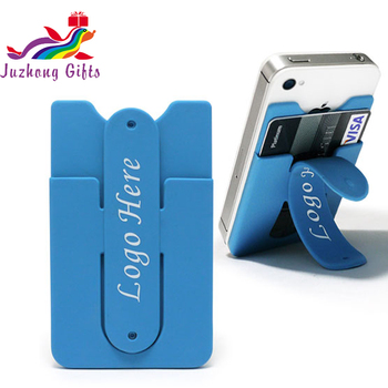 Custom Logo Best Promotional Gift 3M sticker adhesive mobile phone card holder