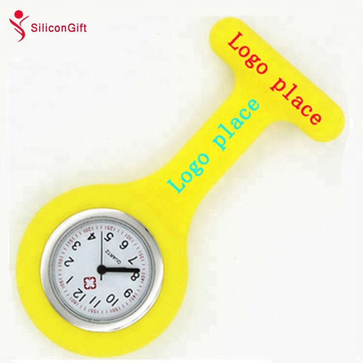 (High) 저 (질 Customized Logo Clip Silicone Rubber 간호사 FOB Watch