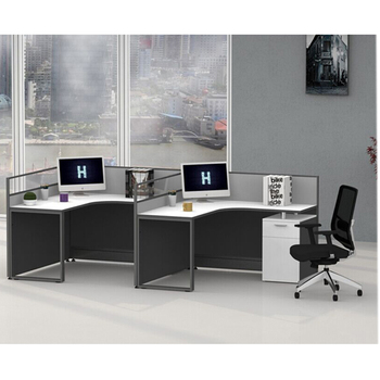L Shaped Table Top Office Workstation