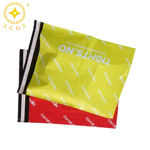 10*13 colored poly mailers plastic envelope custom printed polythene shipping bags with handle polymailer with logo