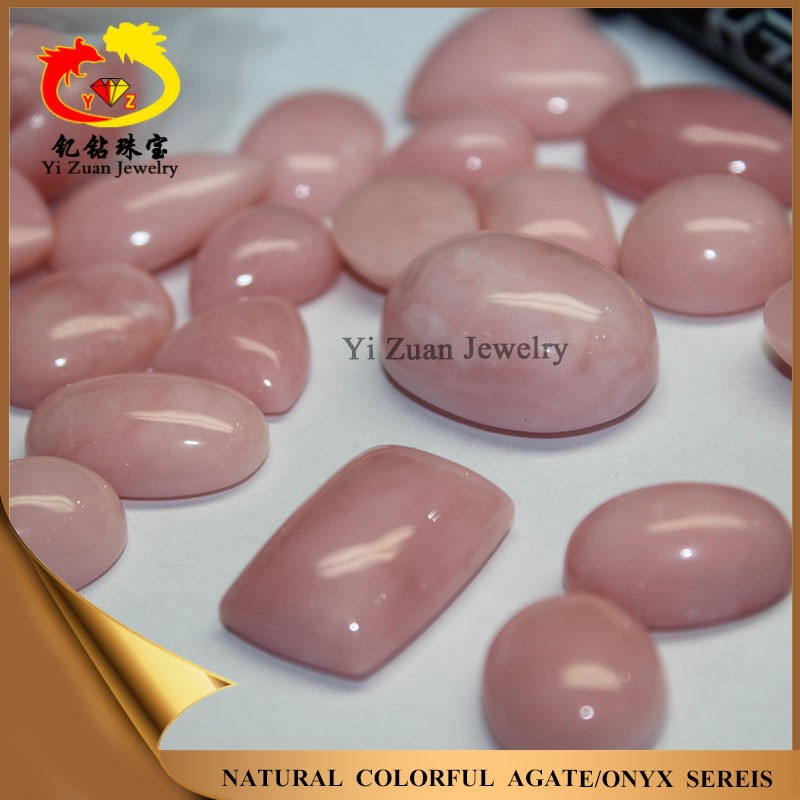 Hot sale multiple shaped cabochon natural pink rough opal