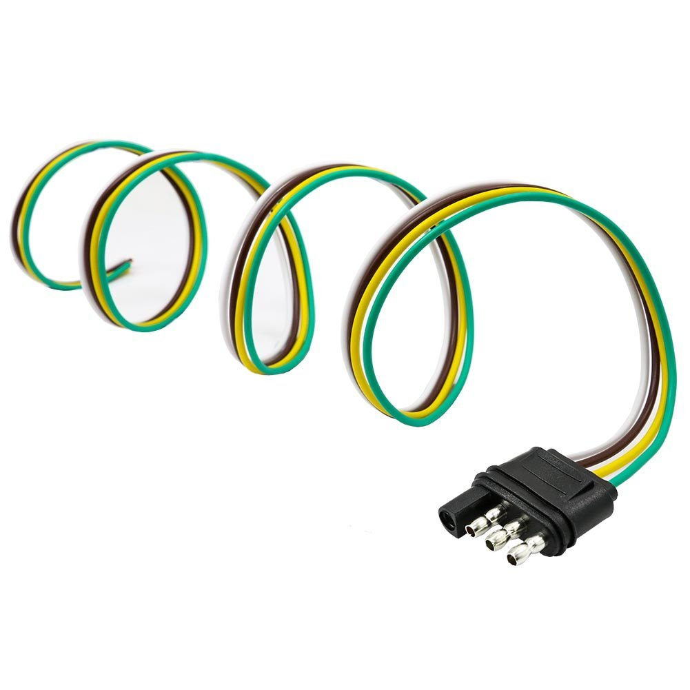 Cheap Wiring Harness For Trailer Hitch Find Curt Tconnector Vehicle With 4 Pole Connector Get Quotations Encell 36inches Flat