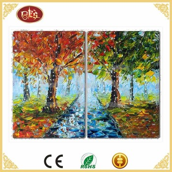 led landscape oil art painting picture