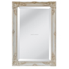 decorative ornate mirror wood frame wall