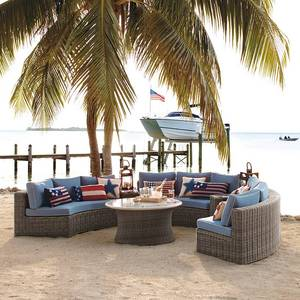 2018 Green all weather pe rattan best price on patio furniture