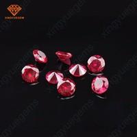 Synthetic ruby round shape 1mm to 15mm corundum loose gemstone