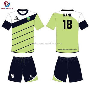 Customized sublimation soccer uniforms set black and gold soccer uniform children thailand quality