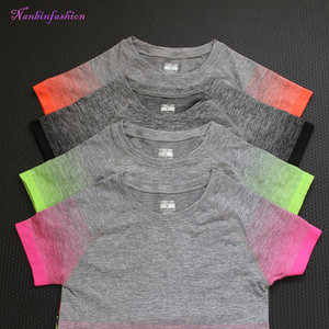 2017 summer women's t shirt short sleeve sports tees jogging exercise women tops wholesale stretch