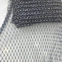 clear plastic rhinestone trim for shoes white and black base with ab crystal rhinestone trimming supplier
