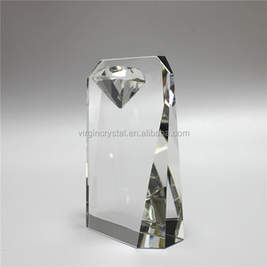 Wholesale high quality crystal award trophy with diamond