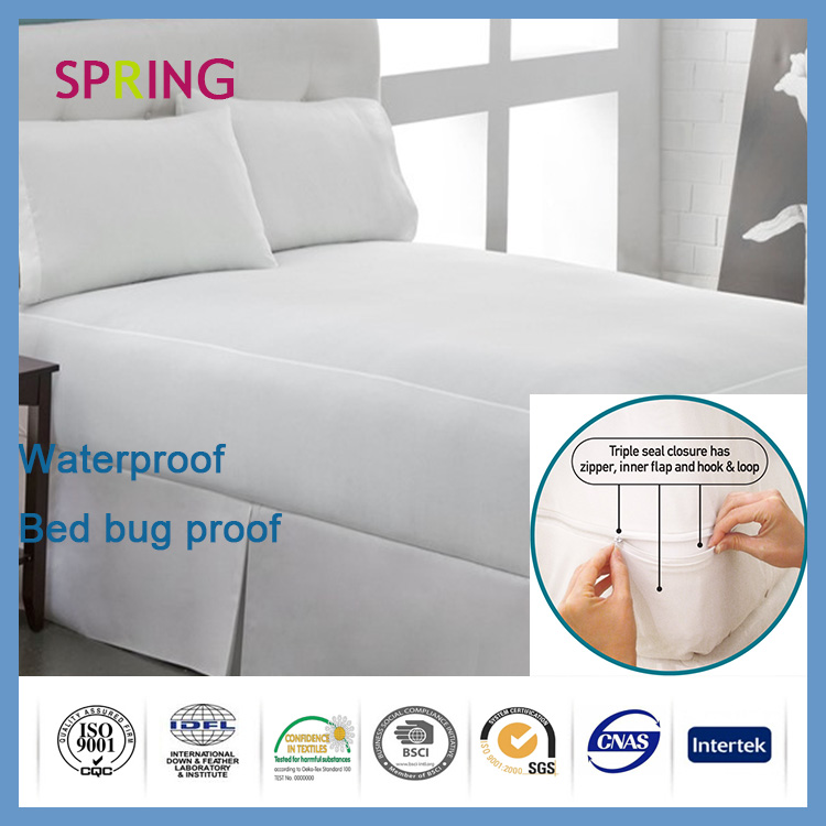 All size Terry Cloth Waterproof Breathable Mattress Cover/Bed bug proof Mattres protector China supplier hospital bed sheets