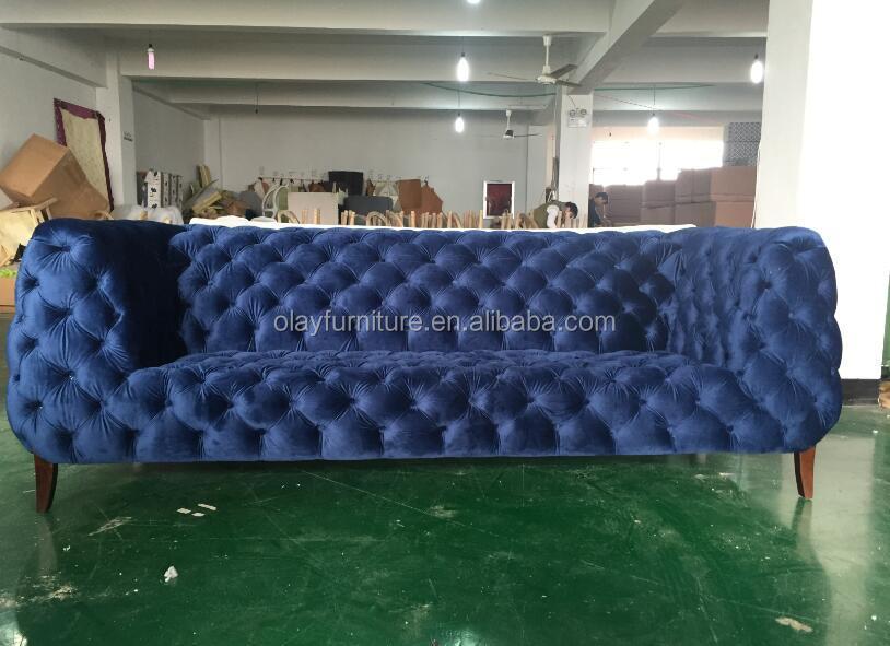 Dubai sofa möbel wohnzimmer samt chesterfield-sofa modernen blauen ...