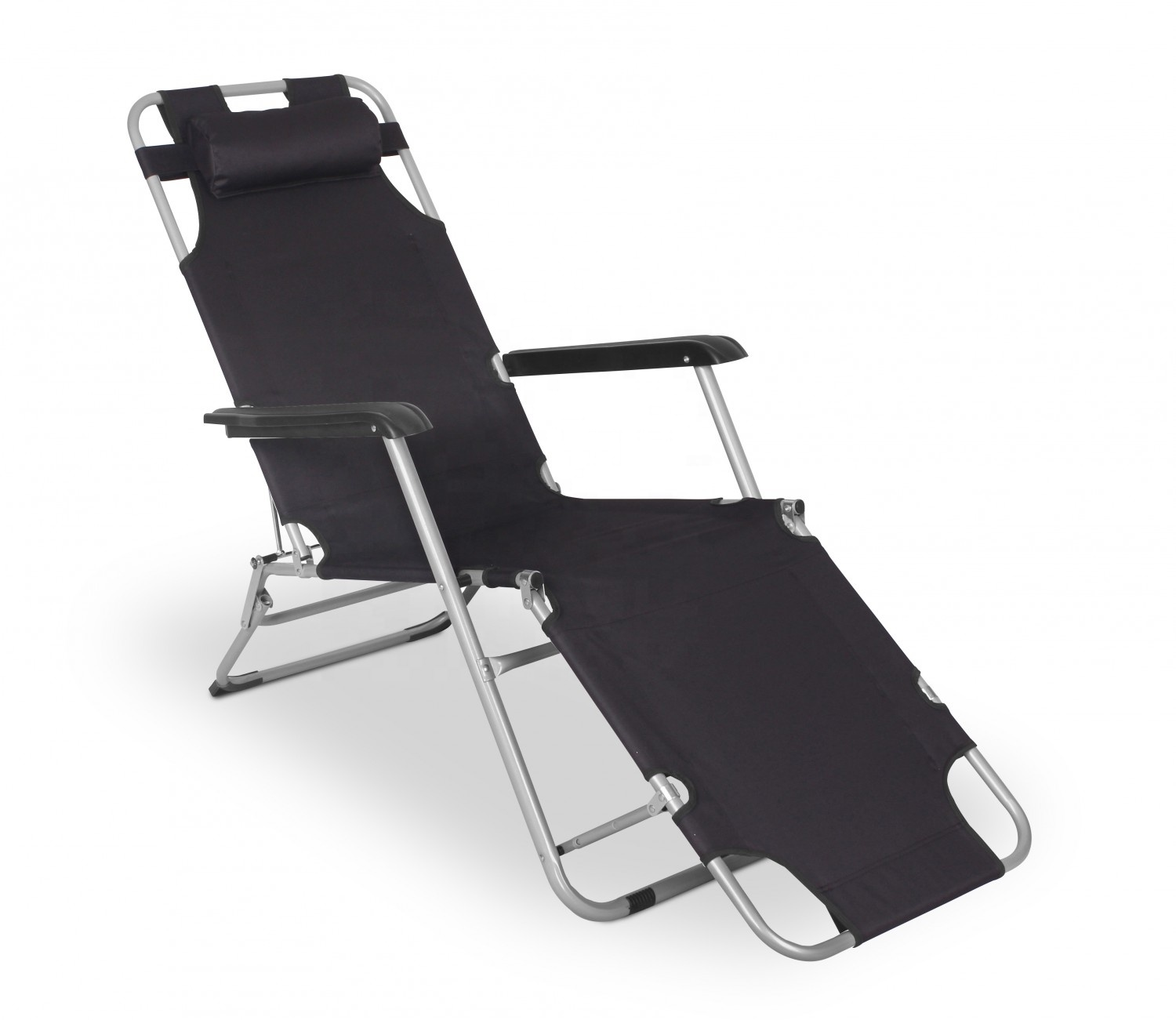 Oversize outdoor folding reclining metal zero gravity chair with cup holder