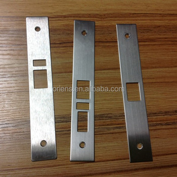 customized security door lock hole cover extended lip strike plate & Customized Security Door Lock Hole Cover Extended Lip Strike Plate ... Pezcame.Com