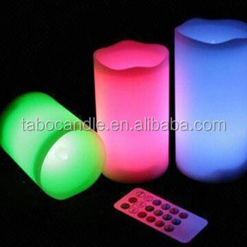 Home Design Color Flame Candle Fake
