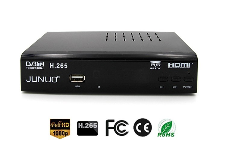 JUNUO china manufacture OEM high quality support scan all available tv and radio channels full HD dvb t2 tv box