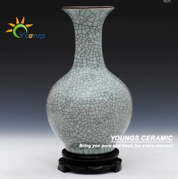 Lots Of Chinese Grey Crackle Chinese Porcelain Decorative Vases For