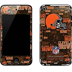 NFL Cleveland Browns iPod Touch (4th Gen) Skin - Cleveland Browns - Blast Vinyl Decal Skin For Your iPod Touch (4th Gen)
