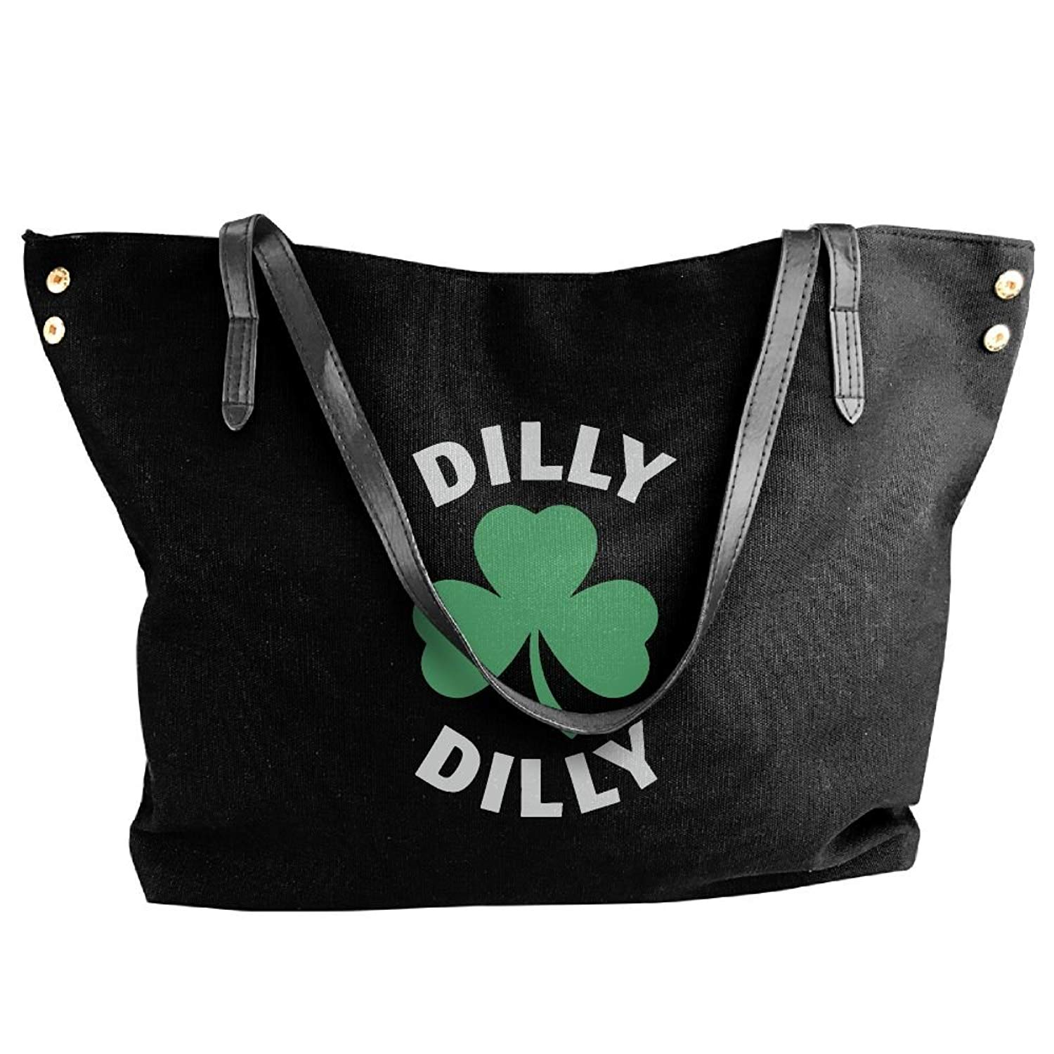 Women's Canvas Large Tote Shoulder Handbag Dilly Dilly Saint Patricks Day Hand Bag