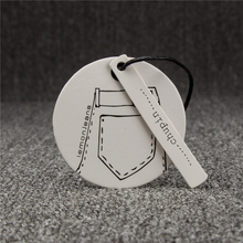 Custom-made kraft cardboard hang tags for garment