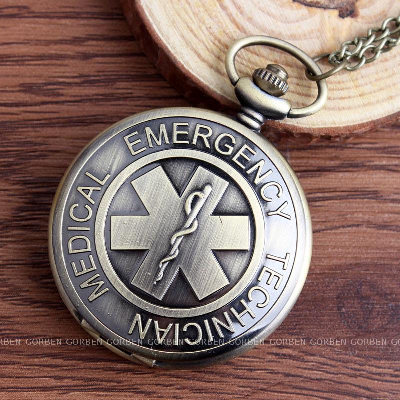 0726ce58e90 Compre Novo Símbolo De Médico De Emergência Médica Relógio De Bolso ...