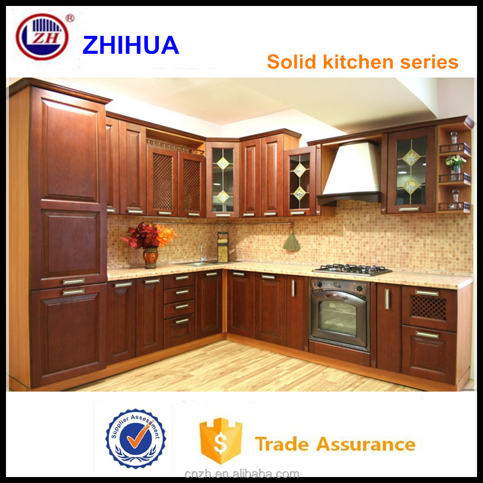 Knockdown Kitchen Cabinets: Solid Wood Maple Coffee Glazing Kitchen Cabinet With Knock